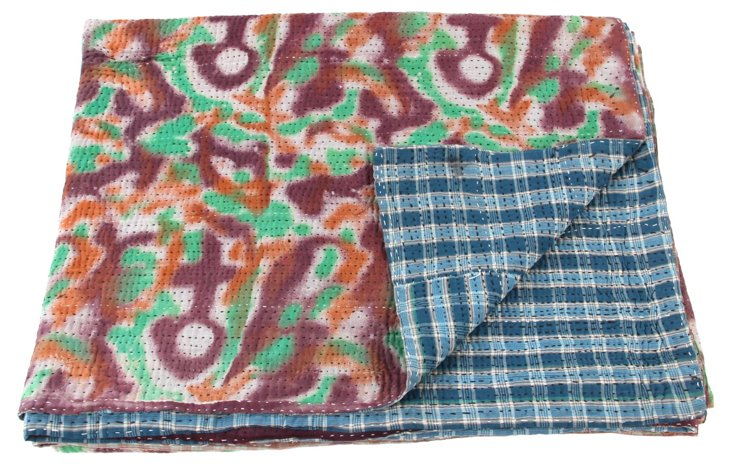 Hand-Stitched Kantha Throw, Imani