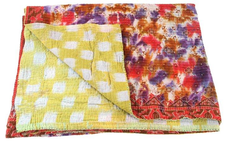 Hand-Stitched Kantha Throw, Porch