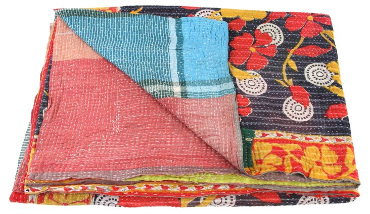 Hand-Stitched Kantha Throw, Kingdom