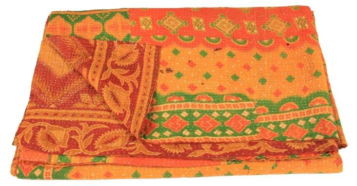 Hand-Stitched Kantha Throw, Karen