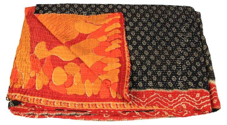 Hand-Stitched Kantha Throw, Best