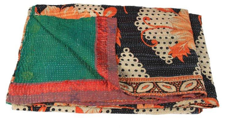 Hand-Stitched Kantha Throw, Kind