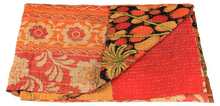 Hand-Stitched Kantha Throw, Kurnool