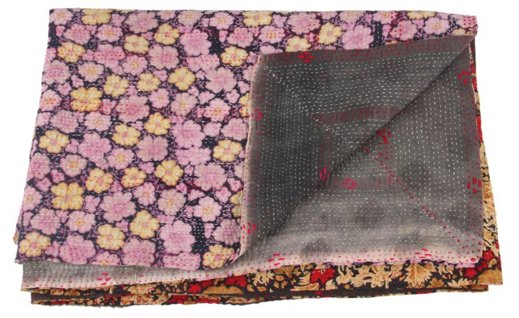 Hand-Stitched Kantha Throw, Cindy