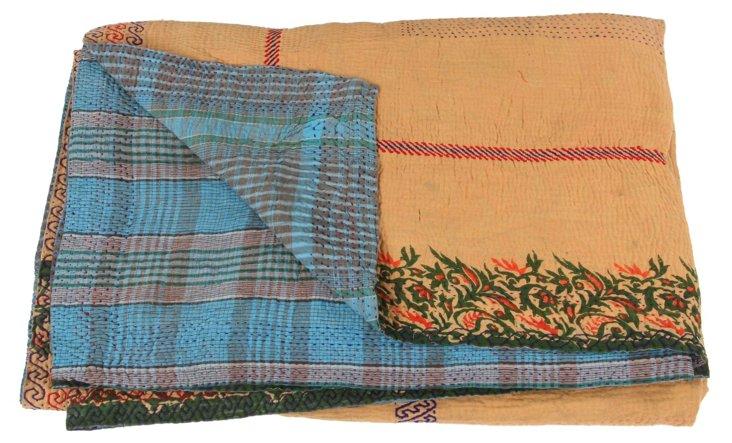 Hand-Stitched Kantha Throw, Ingrid