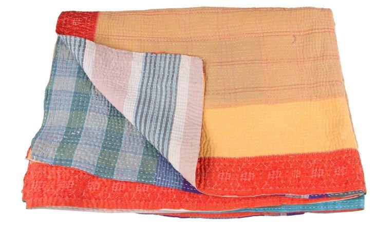 Hand-Stitched Kantha Throw, Margaret