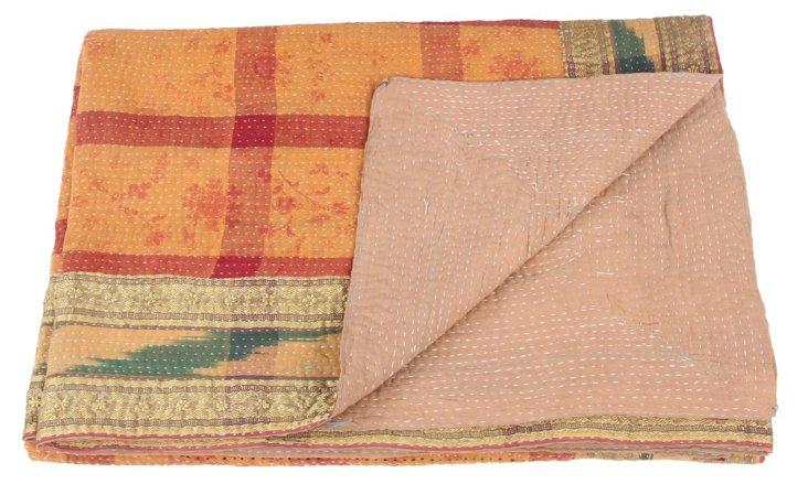 Hand-Stitched Kantha Throw, Abigail