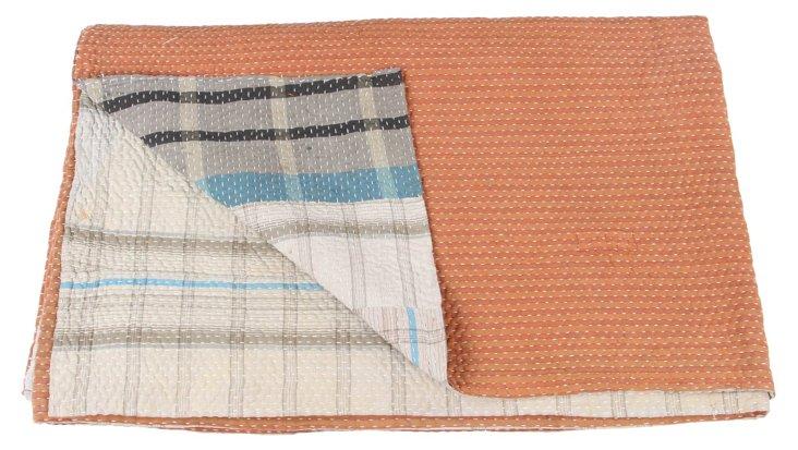 Hand-Stitched Kantha Throw, Annie