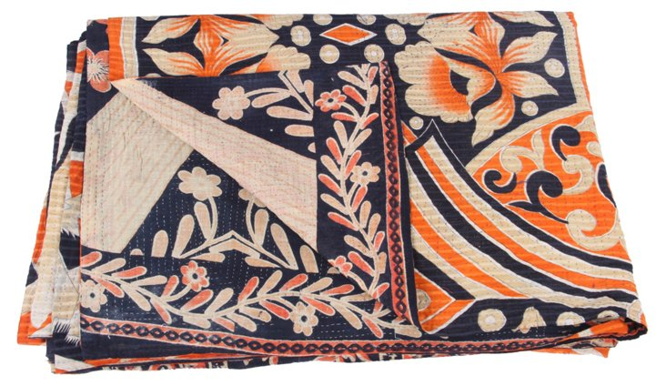 Hand-Stitched Kantha Throw, Mary