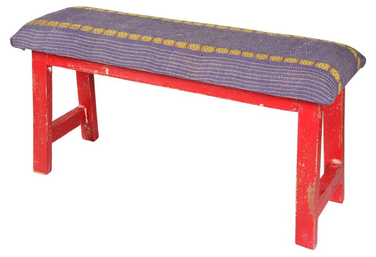Lilien Bench, Purple/Yellow/Red