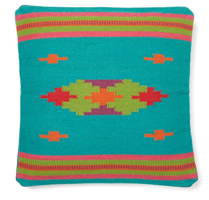 Native Element 18x18 Cotton Pillow, Teal