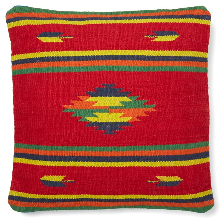 Native Element 20x20 Cotton Pillow, Red
