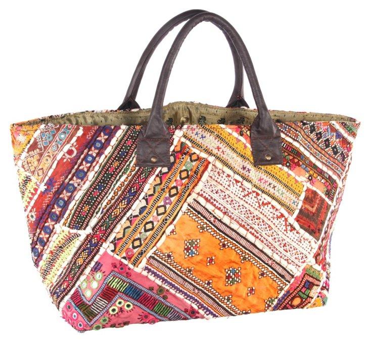 Embroidery Jatti Tote, Birdeye