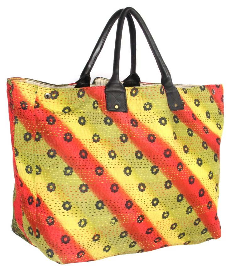 Original Kantha Tote, Pineapple