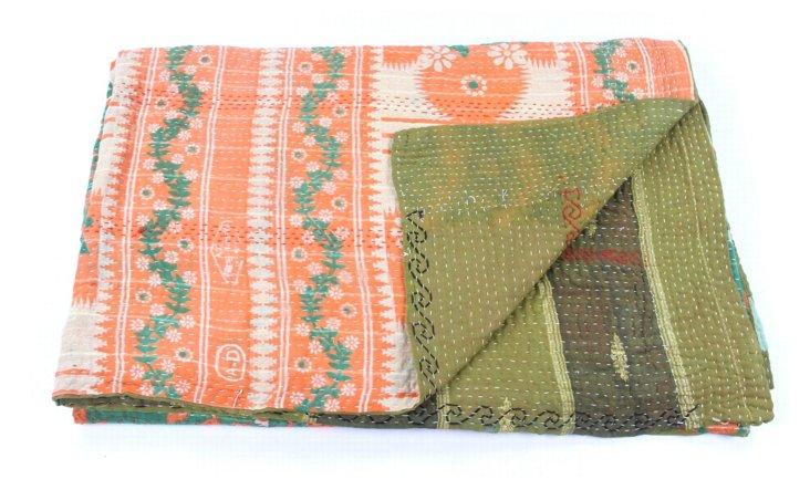 Hand-Stitched Kantha Throw