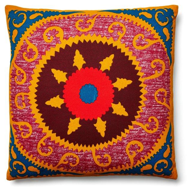 Suzani 24x24 Pillow, Fuchsia