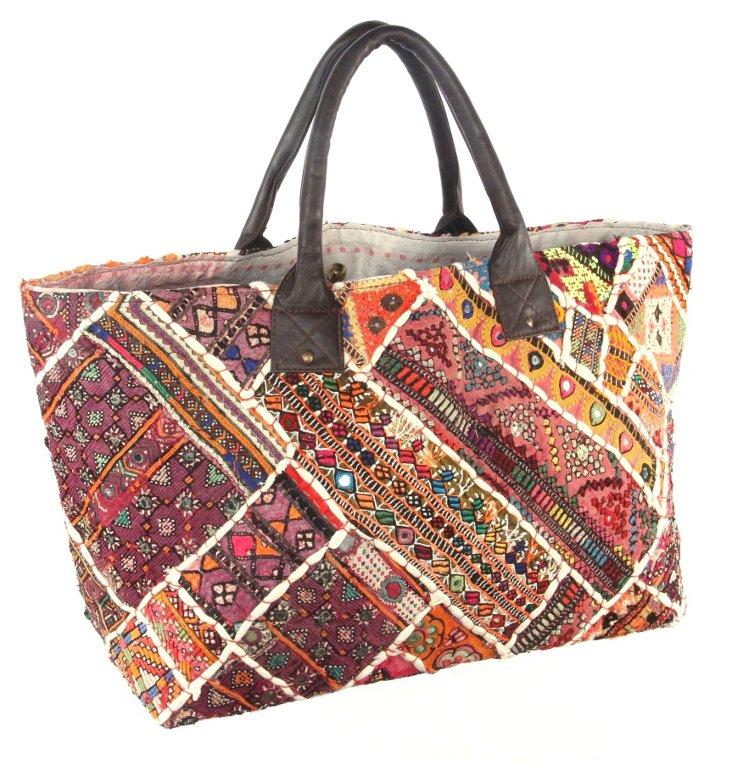 Embroidery Jatti Tote , Calla