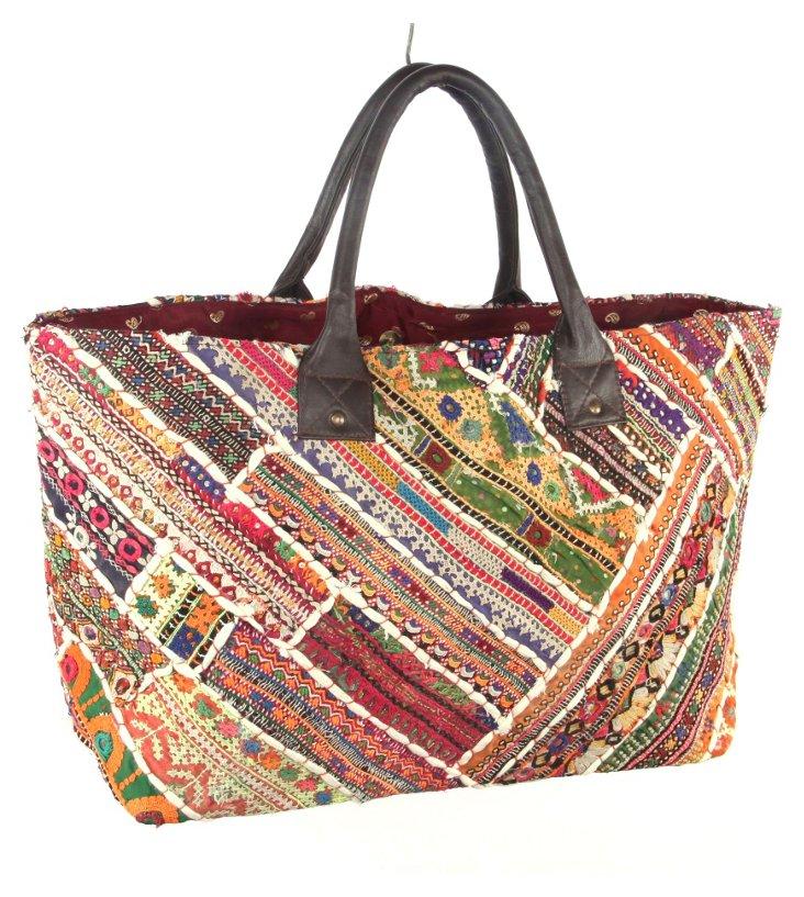 Embroidery Jatti Tote, Caledonia