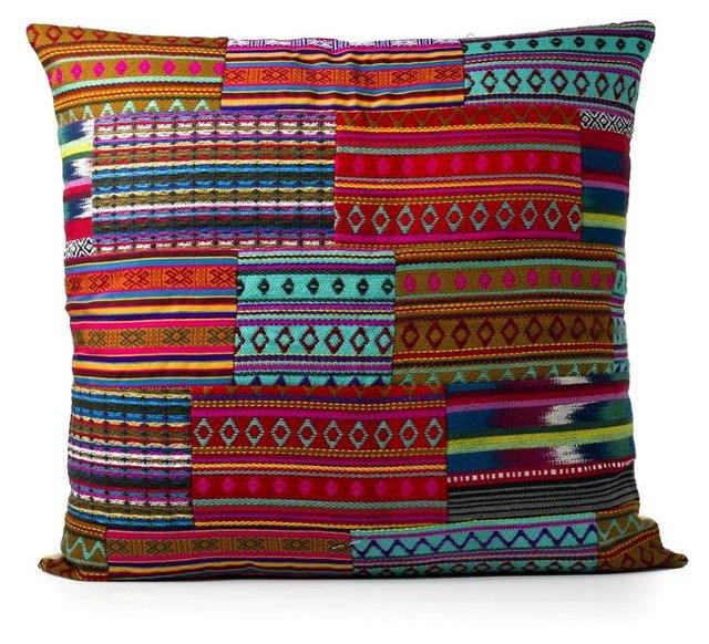 Abuelita Patchwork 24x24 Pillow, Multi
