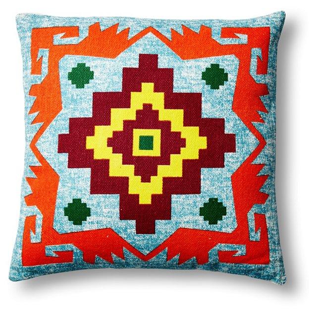 Cruz Azul 18x18 Cotton Pillow, Orange