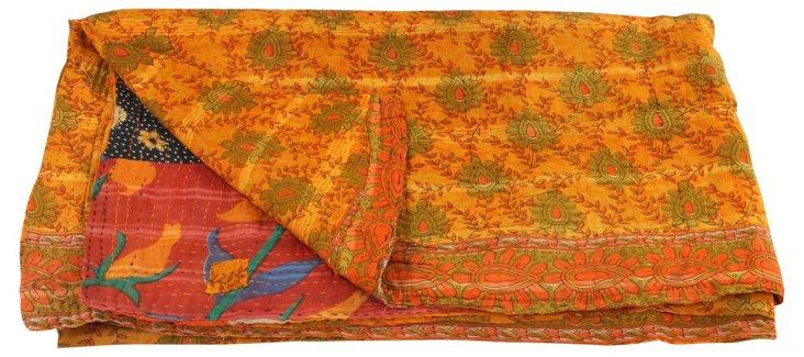 Hand-Stitched Kantha Throw, Amaury