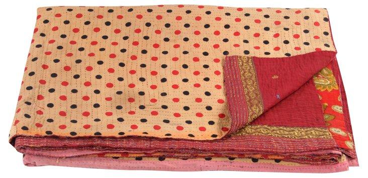 Hand-Stitched Kantha Throw, Navya