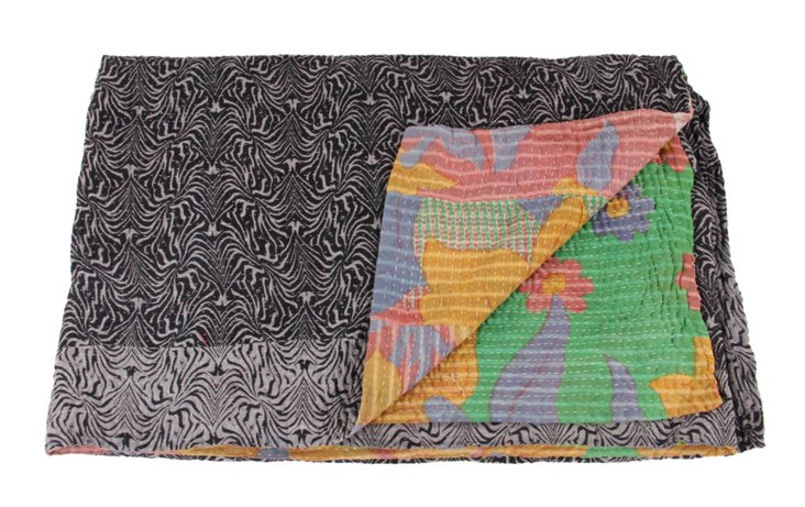 Hand-Stitched Kantha Throw, Lovanla