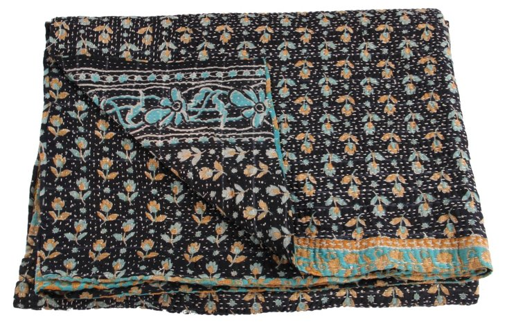 Hand-Stitched Kantha Throw, Jodi