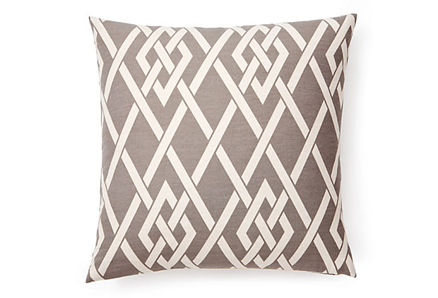 Gate 20x20 Outdoor Pillow, Gray