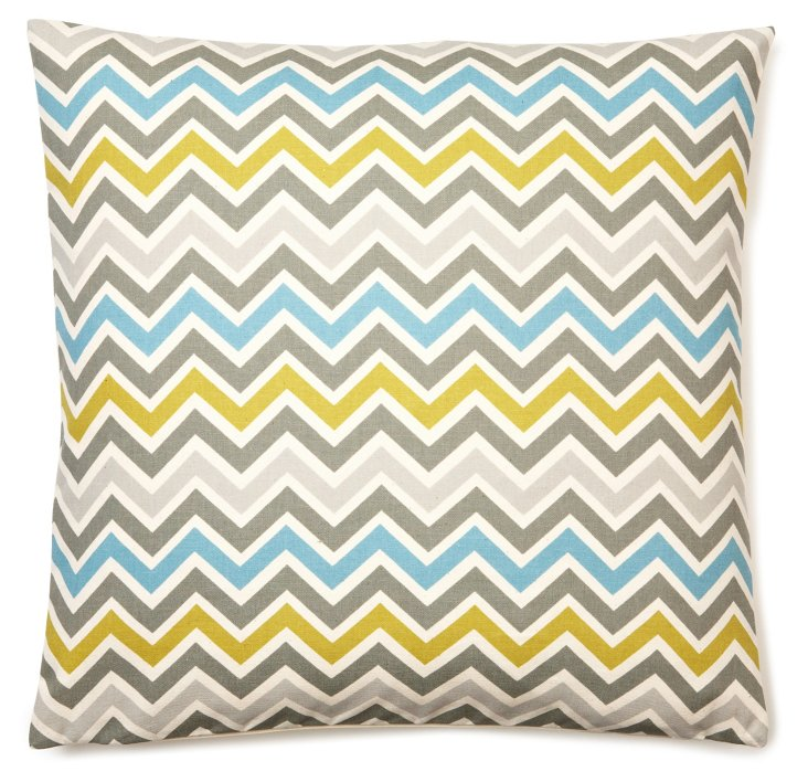 Chevron 20x20 Cotton Pillow, Multi