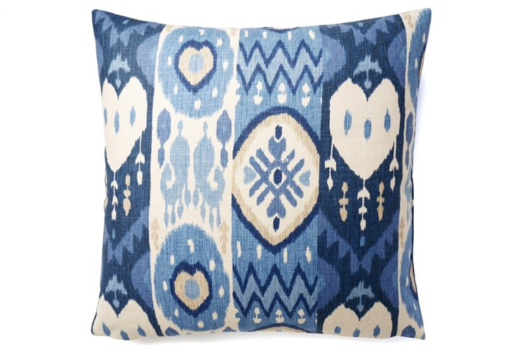 Kachina Ikat 20x20 Pillow, Blue