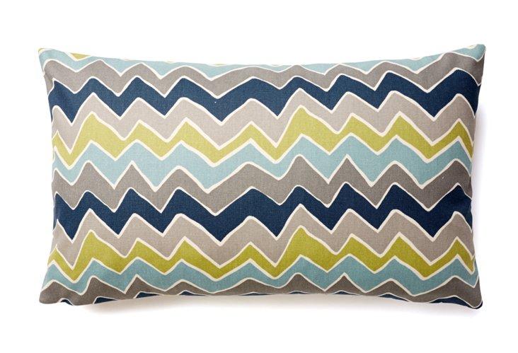 Vineyard Chevron 12x20 Pillow, Blue