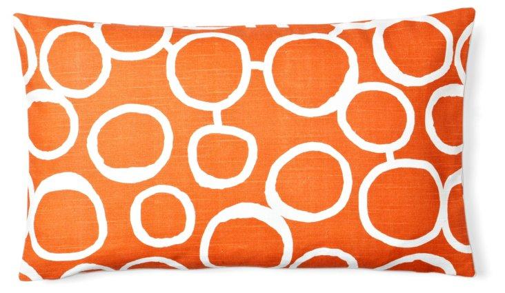 Bubble 12x20 Cotton Pillow, Orange