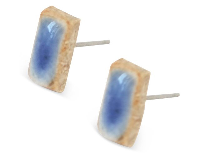 Juju Blue Rectangle Earrings