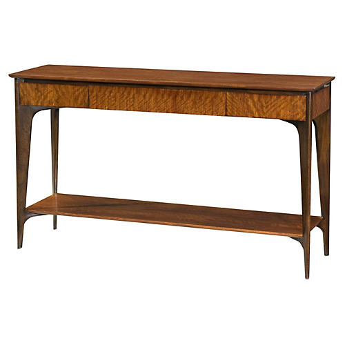 "Razor 60"" Console Table, Russet"