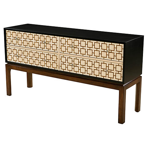"Network 60"" Sideboard, Brown/Cream"