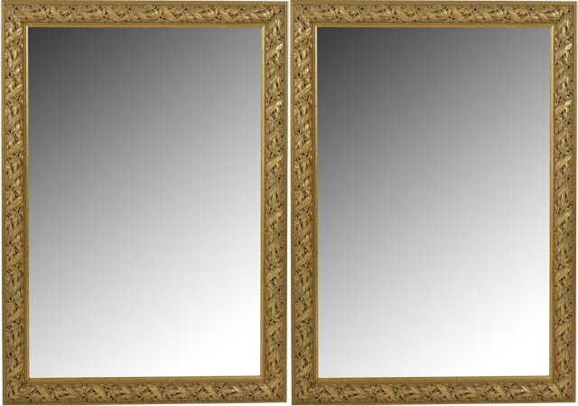 Early 20th-C. Gilded Mirrors, Pair