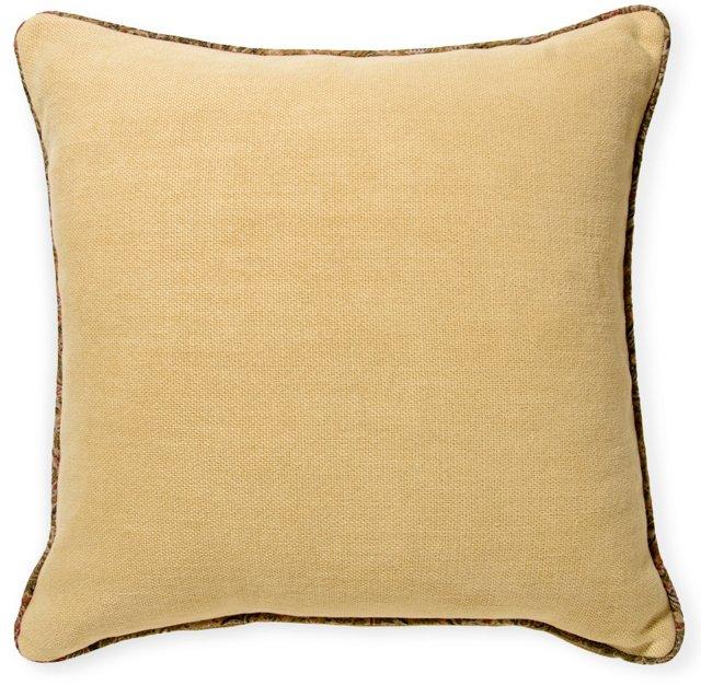 Linen Pillow w/ de Le Cuona Piping