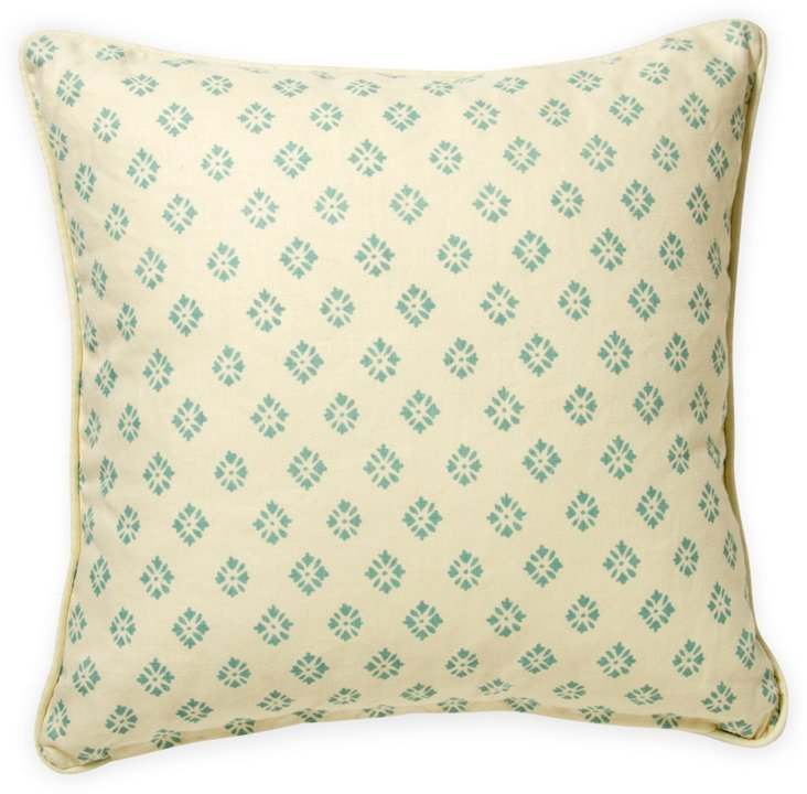 2-Sided Pistachio Lola Pillow I
