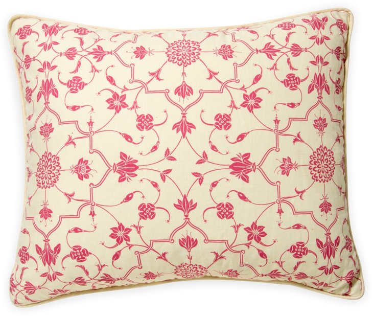 2-Sided Abu Pillow, Dark Pink