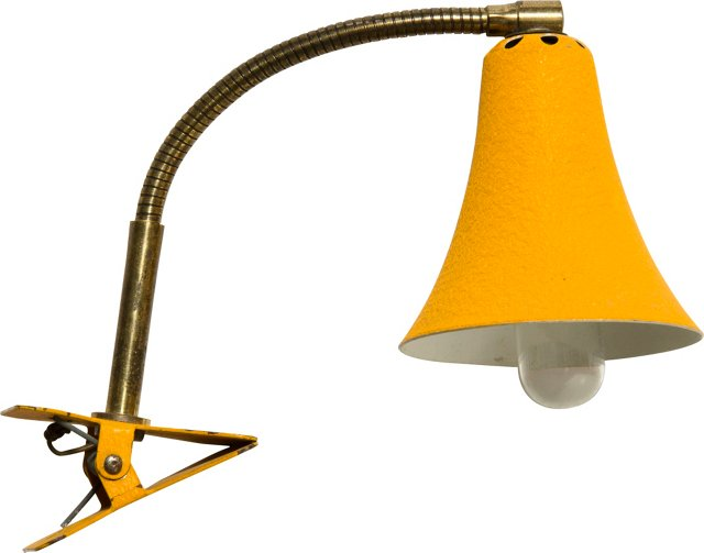 1950s Anglepoise Clip Desk Lamp, Orange