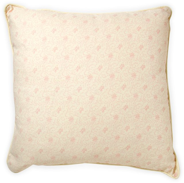 2-Sided Floral Pink Pillow