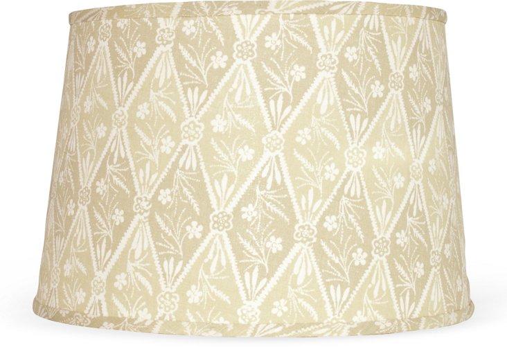 Diamond Batik Lampshade, Sage