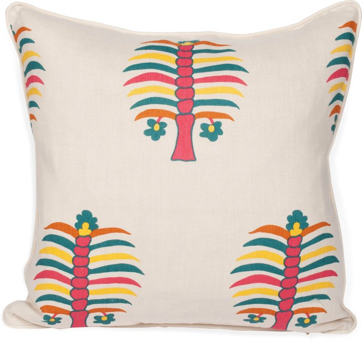 2-Sided Fez Palm Pillow, Peony II