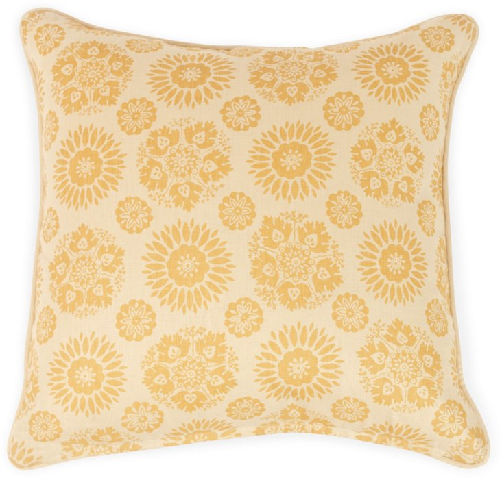 Double-Sided Lola Wheat Pillow