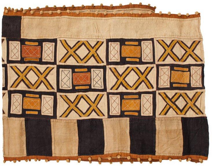 Vintage Kuba Cloth w/ Trim