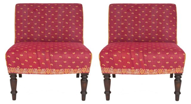 Armless Chairs, Pair
