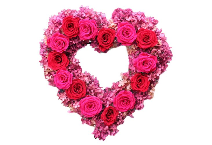 Rose & Hydrangea Wreath, Preserved