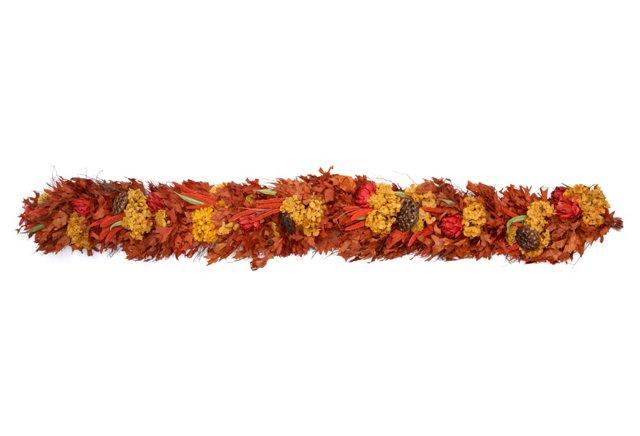 """76"""" Fall Hydrangea Garland, Dried"""