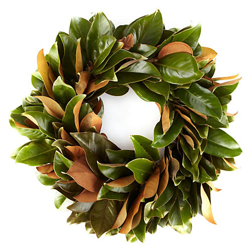 "28"" Fresh Magnolia Wreath"